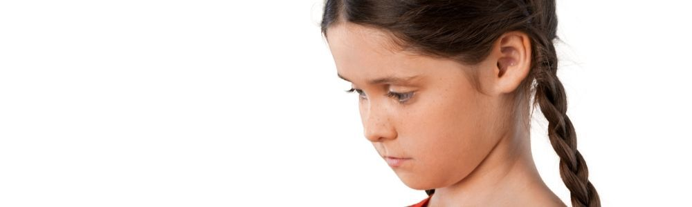 A child with low self-esteem