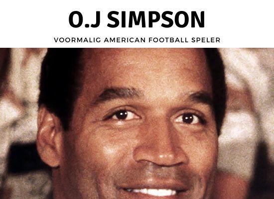 Voormalig American Football speler O.J. Simpson