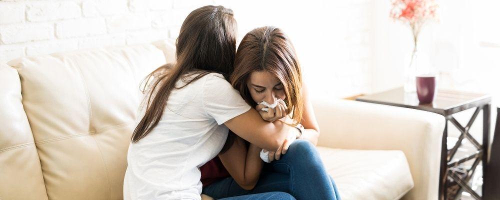 Verdriet uiten bij vrienden