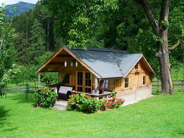 Minimalistisch houten huisje