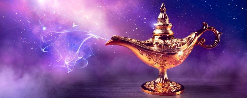 Magische gouden lamp