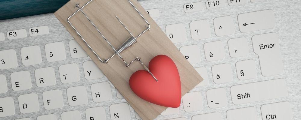 Muizenval met een hart erin